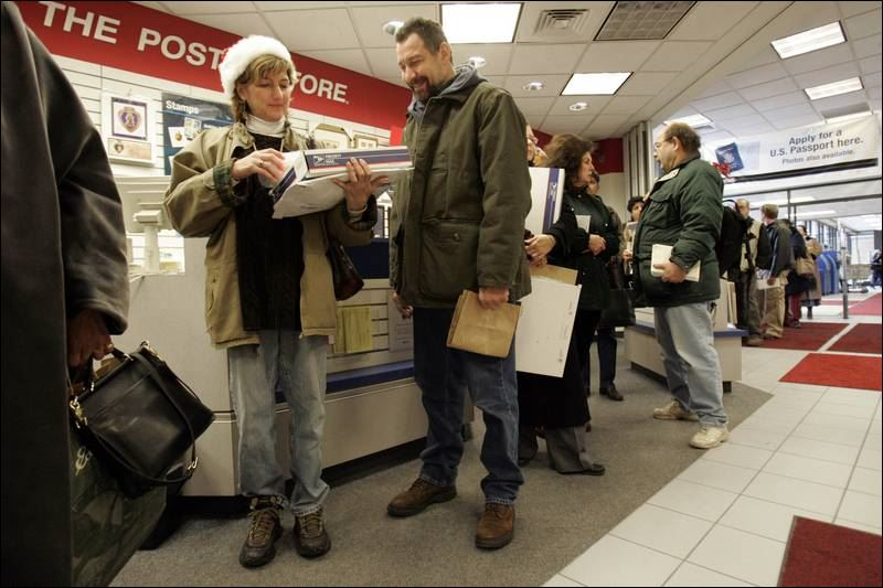 line at the post office