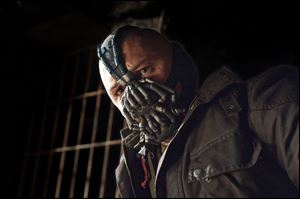 Tom Hardy as Batman-baddie Bane.