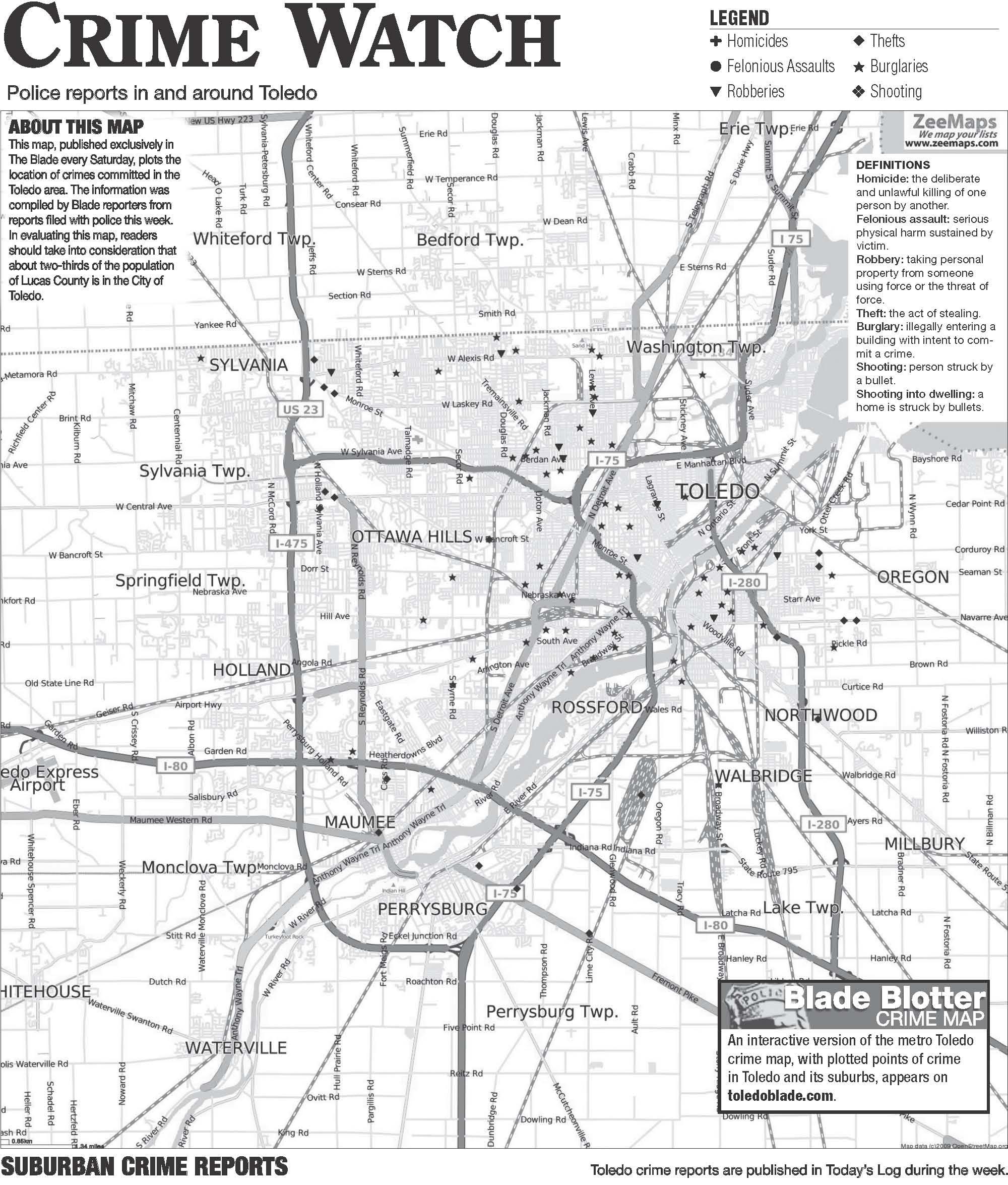 Suburban Crime Log 1 25