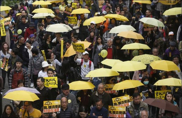Hong Kongers march for democracy in 1st major rally since ...