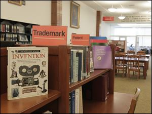 The Toledo-Lucas County Public Library is a patent and trademark center for the U.S. Patent Office. An intellectual-property attorney regularly consults with business owners.