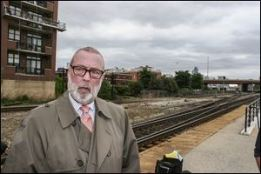 Aurora, Ill., Mayor Tom Weisner fears what would happen if an oil train derails and explodes in an urban area.