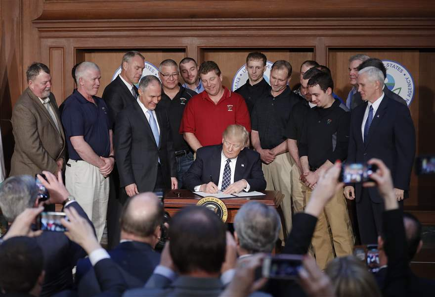 Image result for president trump signs executive order energy