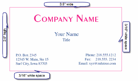 Business Cards 8371 Template Blank