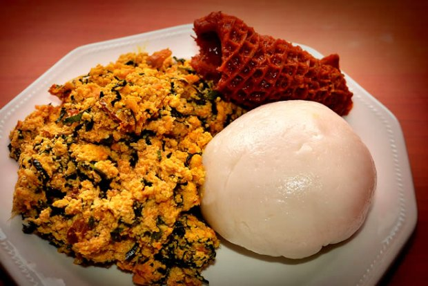 Pounded Yam and Egusi