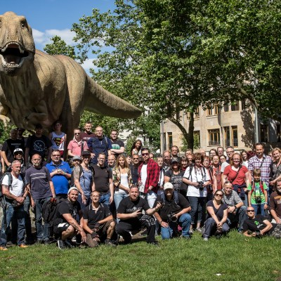 """Gruppenbild T-Rex by <a href=""""https://www.facebook.com/oliopticphoto/?fref=ts"""" target=""""_blank"""">Olioptoc Photography</a>"""