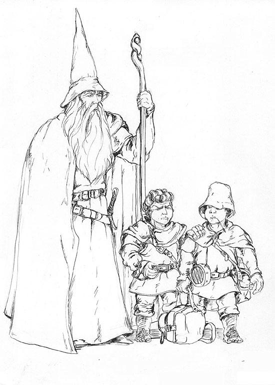 Gandalf, Frodo et Sam - Manuel Merelle
