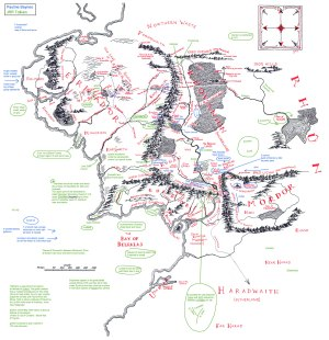 Tolkien's annotated map of Middleearth transcribed – The