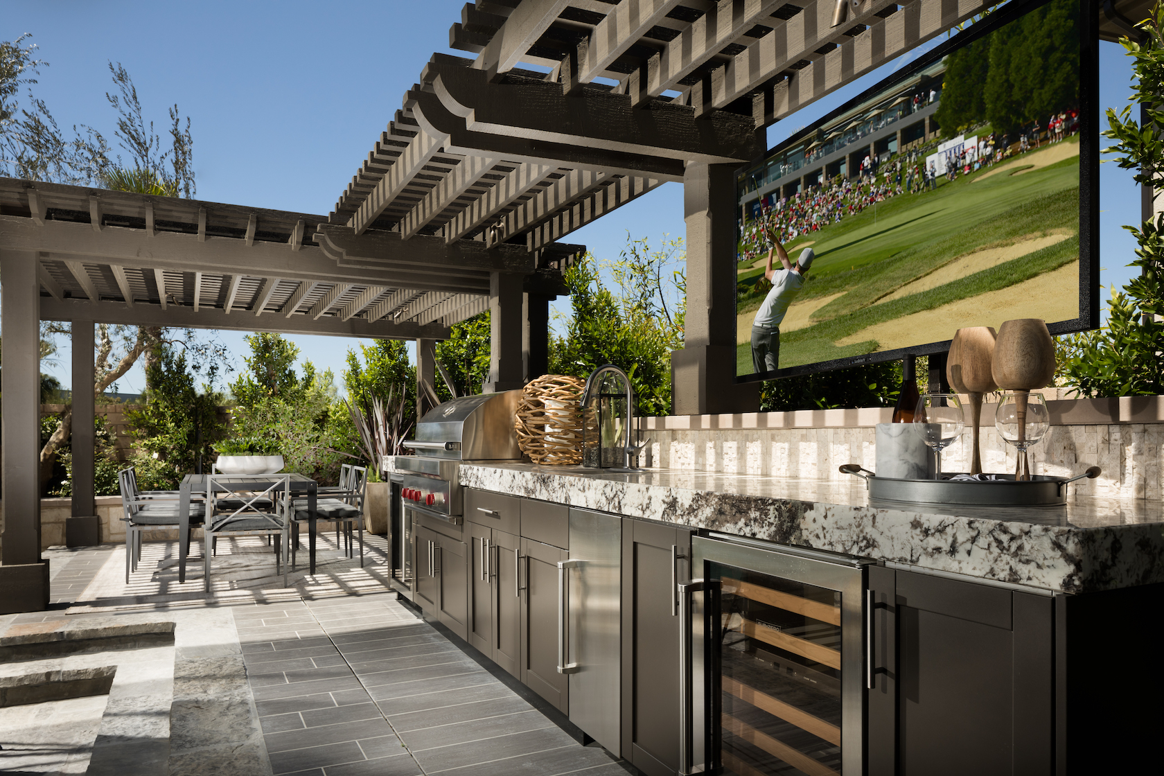 Dream Designs & Ideas For Your Outdoor Kitchen | Build ... on Outdoor Kitchen Living Spaces id=96420