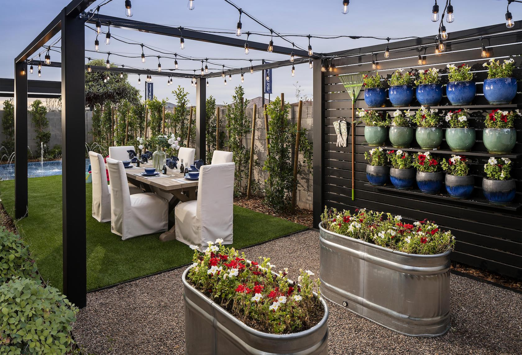 Outdoor Living Space Ideas: Backyard Lighting on Small Backyard Living Spaces  id=94248