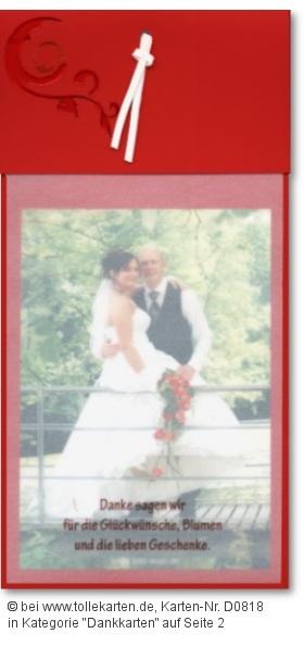 Dankesspruch Hochzeitskarten