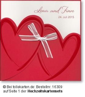 Schöne Einladungskarte inkl. Kartenset: