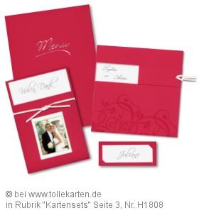 Modernes Hochzeitskarten Set