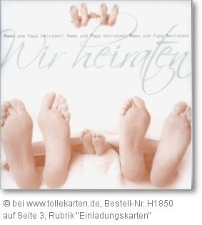 Einladungskarte zur Hochzeit mit Kind