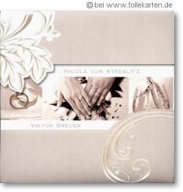 Einladungskarte zur Hochzeit mit Stil und Eleganz: