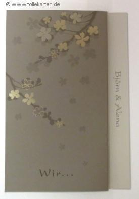 Schöne Hochzeitskarten mit Glanzelementen: