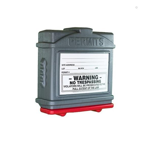 EZ Permit Box Gray and Red
