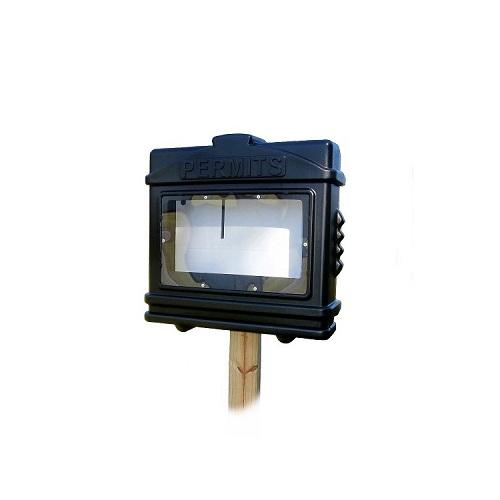 EZ Permit Box w/ Window Black and Black