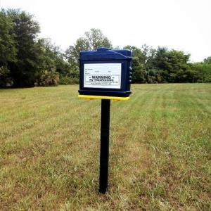 EZ Permit Box w/Post & Post Spike Blue and Yellow