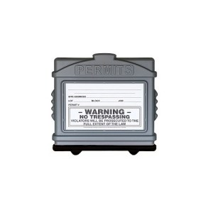 EZ Permit Box Gray and Black