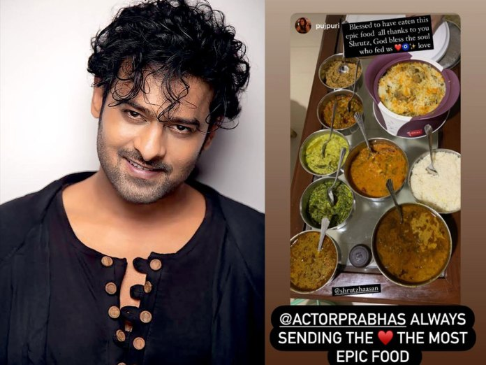 Prabhas sends epic food to his girl friend