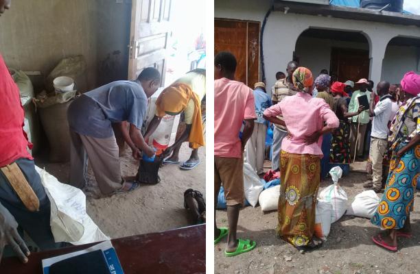 Verteilung von Lebensmitteln und anderen Hilfesgütern