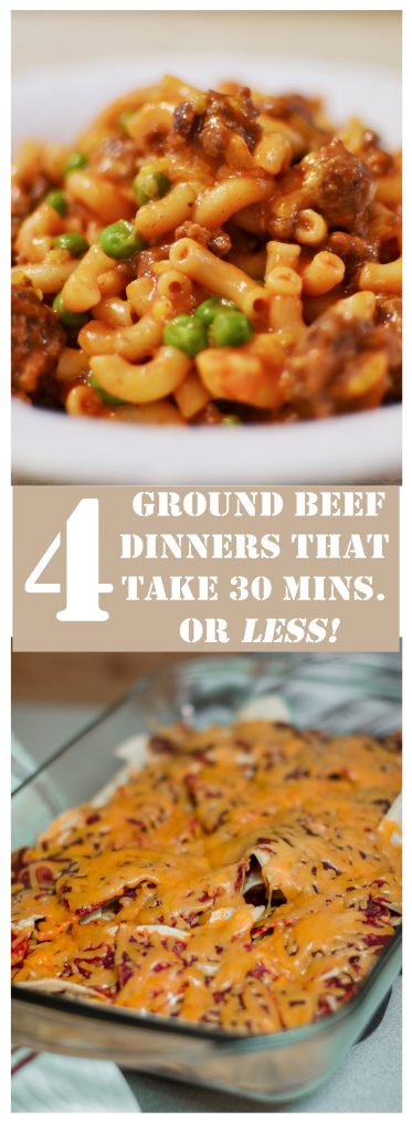 4 Ground Beef/Ground Turkey Meals that Take 30 Minutes or Less to Make!