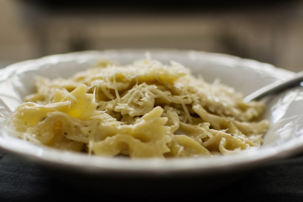 Creamy Bow Tie Pasta (a from-the-pantry meal!)