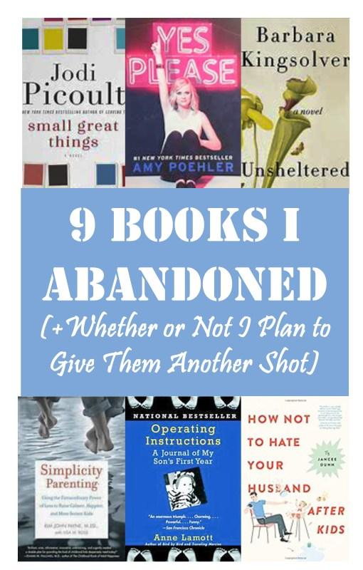 9 Books I Abandoned (+ Why)
