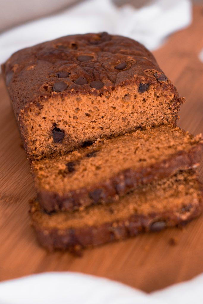 Pumpkin Chocolate Chip Bread (A Full-Fat Version, and a Half-Fat Version!)