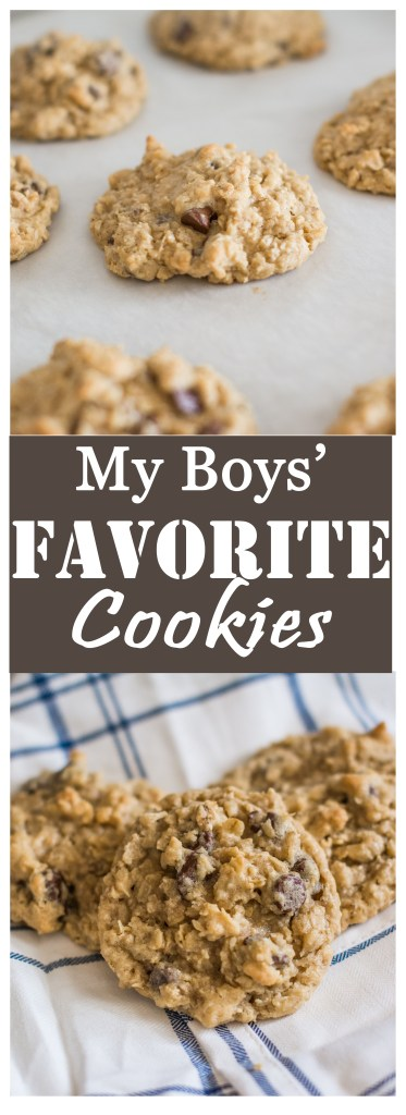 The Best Chocolate Chip Oatmeal Cookies // Secret Family Recipe from To Love and To Learn
