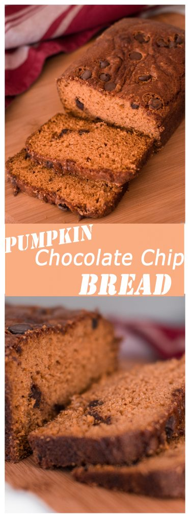 Pumpkin Chocolate Chip Bread, Two Versions - One With Full Amount of Fat and One With Half the Fat (and Both Delicious!)