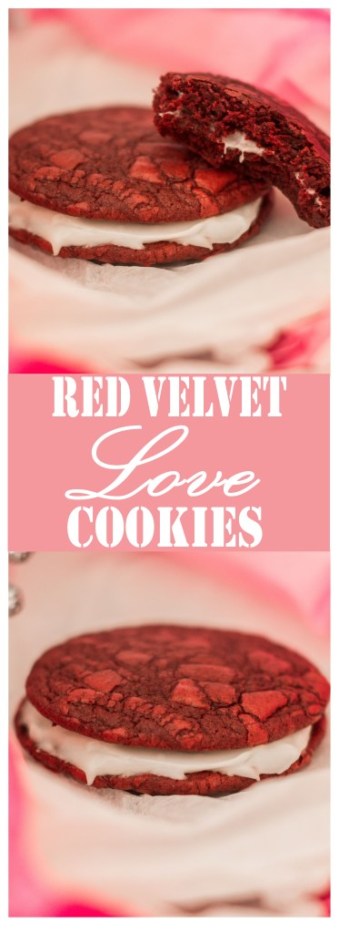 Red Velvet Love Cookies // A perfect (and easy!) sweet treat for Valentine's Day