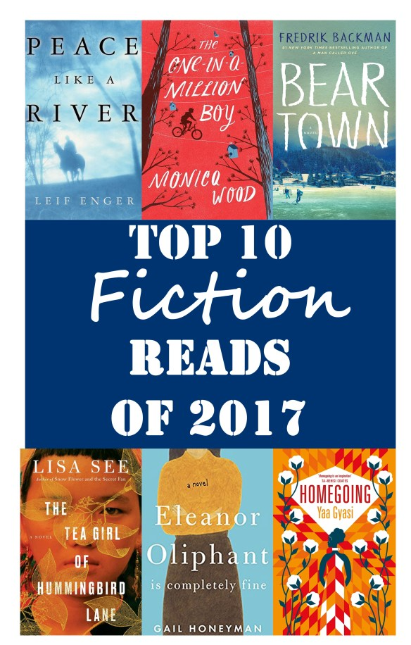Of all the books I read this year (over 65!), these are the 10 fictional picks that stood out the most.