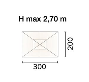 scheda misure 5006 ombrellone