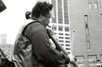 Charles Mingus. Bi Centenial, Lower Manhattan. 1976-07-04. Photo by Tom Marcello