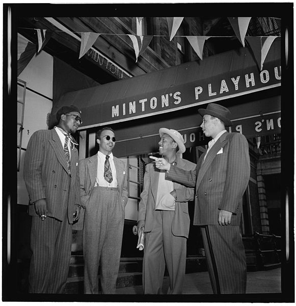 Thelonious Monk, Howard McGhee, Roy Eldridge, and Teddy Hill Minton's Playhouse, New York, N.Y. ca. Sept. 1947 Photograph by William P. Gottlieb