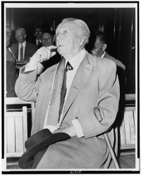 Frank Lloyd Wright en 1956.  Foto por Al Ravenna. Library of Congress Prints and Photographs Division. New York World-Telegram and the Sun Newspaper Photograph Collection.