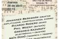 Pulse! Edición 028. Bergmark – Rodero – Wozny – Dodó – Kazaroff – Pereira – Cabadas. 2016-04-28. Madrid [Noticias]