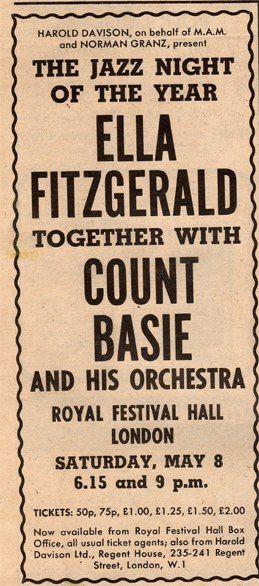 Razones para el jazz. Un concierto. Ella Fitzgerald & Count Basie en el Royal Festival Hall en 1970 [480]