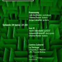 Freesoniq - Los 3! en Raras Músicas. Sesión 96 (CC. La Tortuga, Madrid. 2019-06-29) [Noticias]