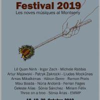 MontMusic Festival 2019 (18, 19, 20 de octubre de 2019. Can Balmes. Palau - Barcelona) [Noticias]