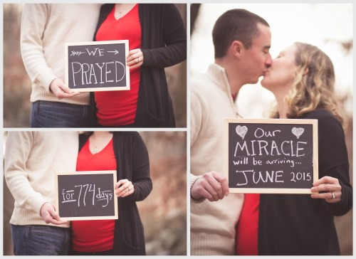 Our pregnancy announcement after infertility for facebook