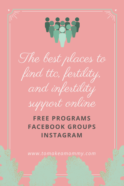 Need some community on your ttc or infertility journey? Here are the best free online places to find support on your journey to baby!