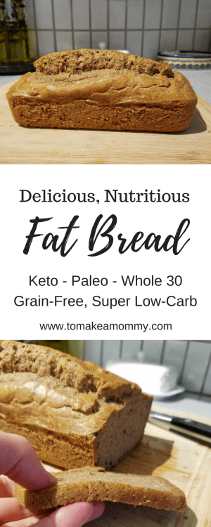 Fat Bread- a gluten-free, dairy-free, sugar-free clean eating recipe that is compliant with Keto, Paleo, and Whole 30!