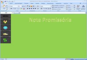 Modelo de Nota Promissória no Excel