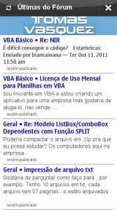 App executando no Symbian Anna