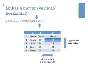 Linhas a mover (vertical/horizontal)