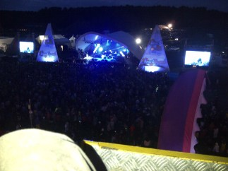 Main stage from the ferris wheel