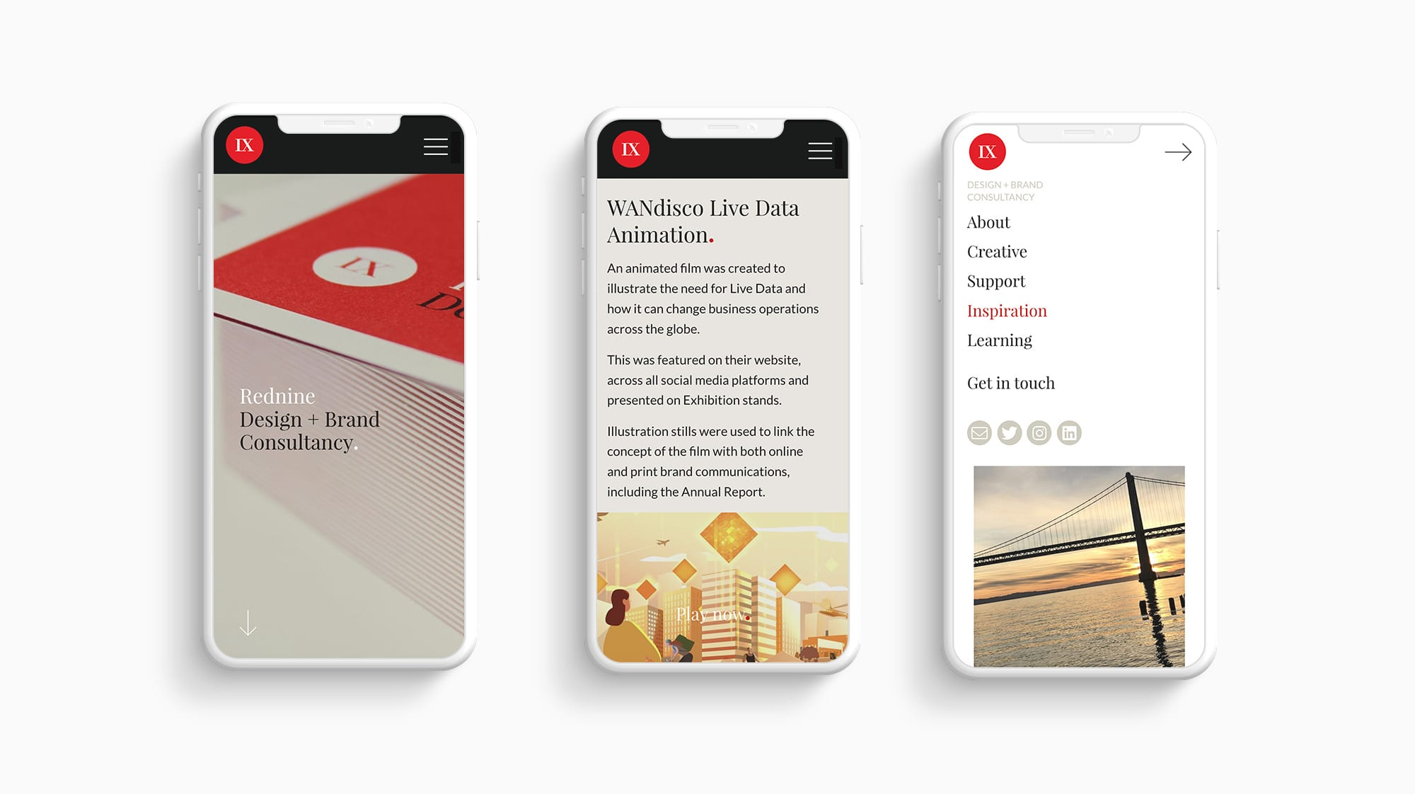 Rednine mobile website designs